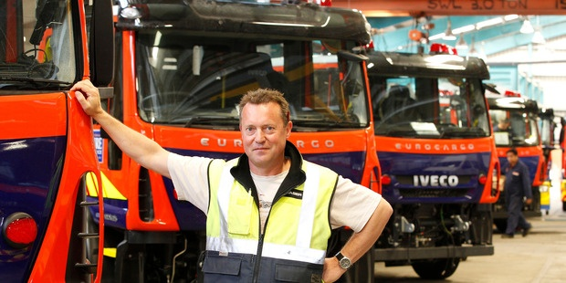 Fraser Engineering Group general manager Martin Simpson. The company is rolling about 150 fire engines off the production line each year - a figure it hopes to increase to 200. Photo / Mark Mitchell